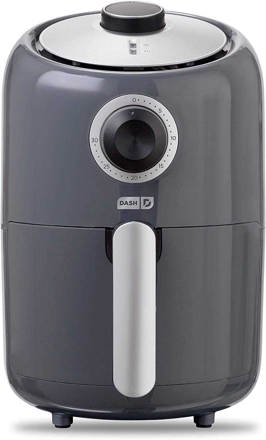 Dash Compact Air Fryer 1.2 L Electric Air Fryer Oven Cooker with Temperature Control, Non Stick Fry Basket, Recipe Guide + Auto Shut off Feature - Grey (Renewed)
