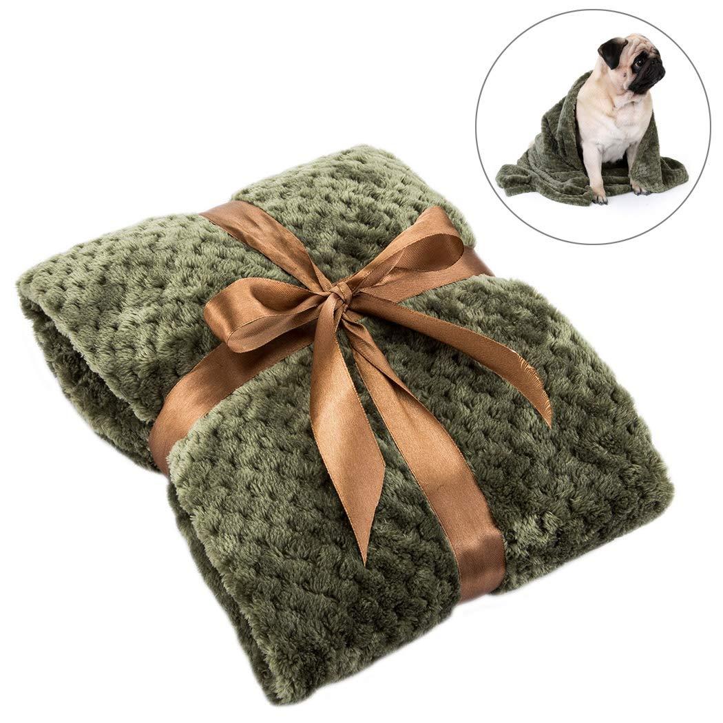 FONLAM Copertina per Cane Gatto Cucciolo Coperta per Materasso Letto Cuscino Animale Domestico Morbido Spesso Inverno Caldo (70 * 100cm, Verde) Prezzi offerte
