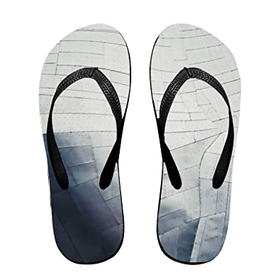91154961a Hitecera A Glossy Building Facade Made Up of Metal Sheets Flip Flops Funny  Sandy Flat Thong