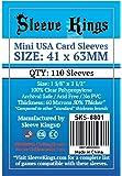 Sleeve Kings Mini USA Card Sleeves (41x63mm) - 110 Pack, 60 Microns