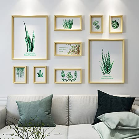 Amazon Com Photo Wall Living Room Wall Accessories Bedroom Creative Solid Wood Composite Photo Frame Color Pattern 3 Home Kitchen