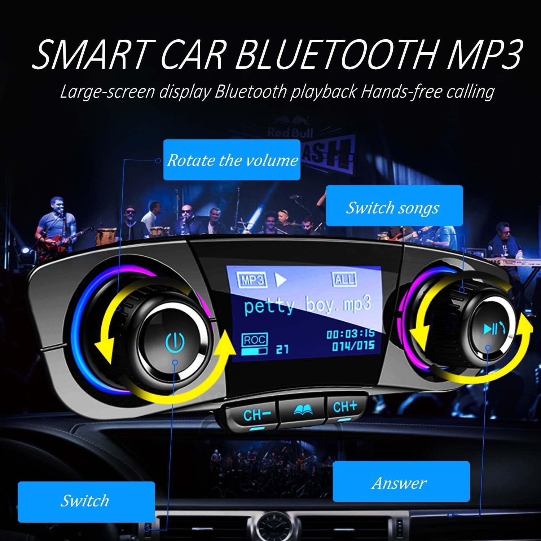 Bluetooth FM Transmitter Auto MP3 Player DUAL USB KFZ SD AUX Freisprechanlage