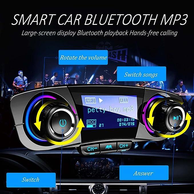 Bluetooth Drahtlos Auto Fm Transmitter Car Radio Adapter MP3 5V//3.4A Ladegeräte