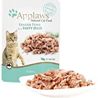 Applaws Tuna Wholemeat Cat Jelly Pouch, 70g Pouches (Pack of 16)