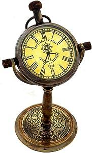 RBN ANTIQUITY Store Brass Desk Clock, Royal Marine Clocks Nautical Clock Desktop Office Table 5''inch