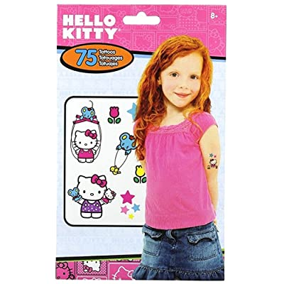 Hello Kitty Temporary Tattoos - 75 tattoos: Toys & Games