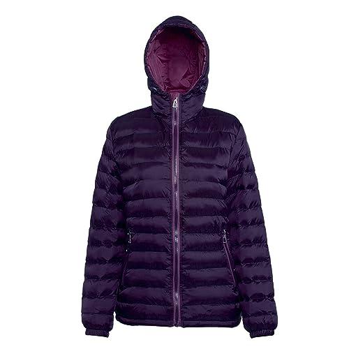 2786 - Chaqueta acolchada con capucha resistente al agua y viento para mujer
