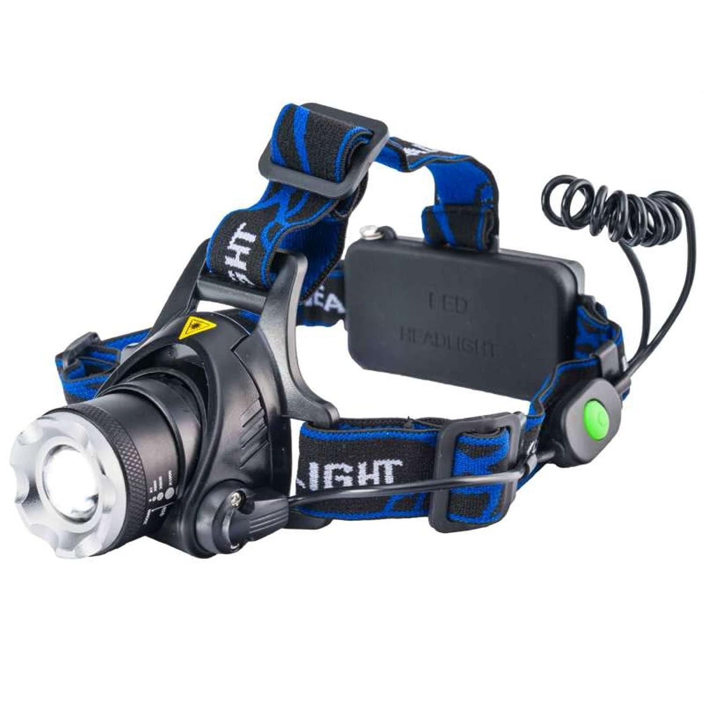 Linterna frontal LED de 10 W.