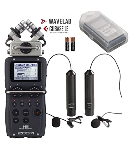 Amazon com: Zoom H5 4-Track Handy Recorder Bundle with Movo