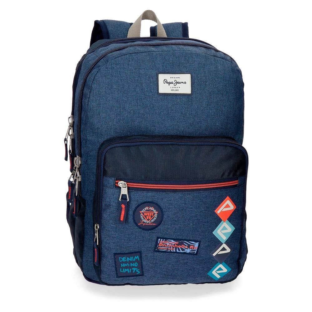 Pepe Jeans Paul Schoolバックパック、44 cm、19.8リットル、ブルー   B07NQRQ6CP