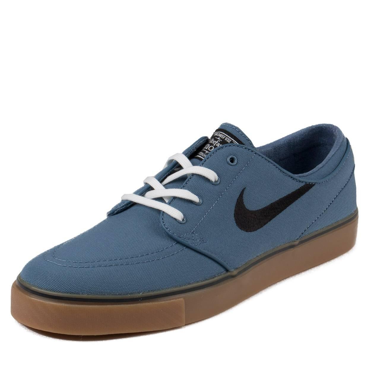 28726b868243 Galleon - Nike SB Air Zoom Stefan Janoski Canvas Ocean Fog White Gum Light  Brown Black Skate Shoes-Men 9.5