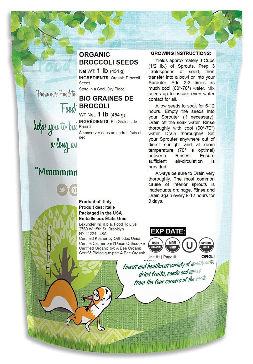Semillas Broccoli convencionales y orgánicas: Amazon.com ...