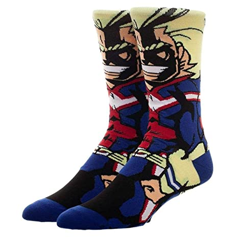 Bioworld My Hero Academia All Might 360 Character Crew Calcetines