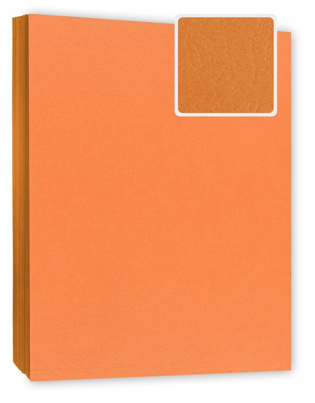 Cartoncini per rilegatura copertine 100 pezzi effetto pelle copertina per rilegature arancione 240 g//m/² DIN A4