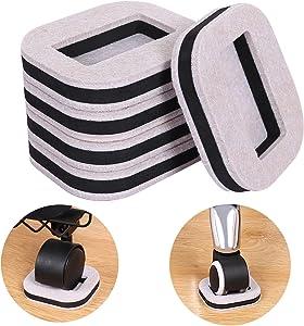 Ezprotekt Felt Pads Bottom Furniture Caster Cups, Protect Hardwood Floors Prevents Scratches, Value Pack, 16 Pack, Beige