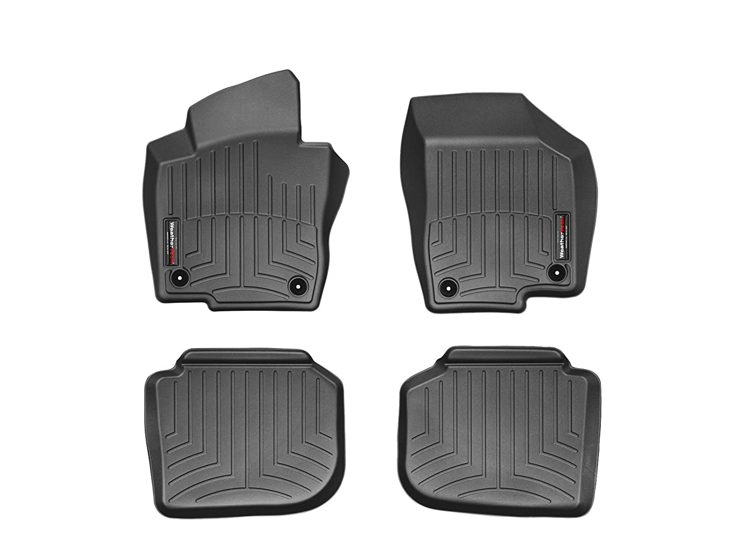 WeatherTech First and Second Row FloorLiner (Black) 44086-1-2