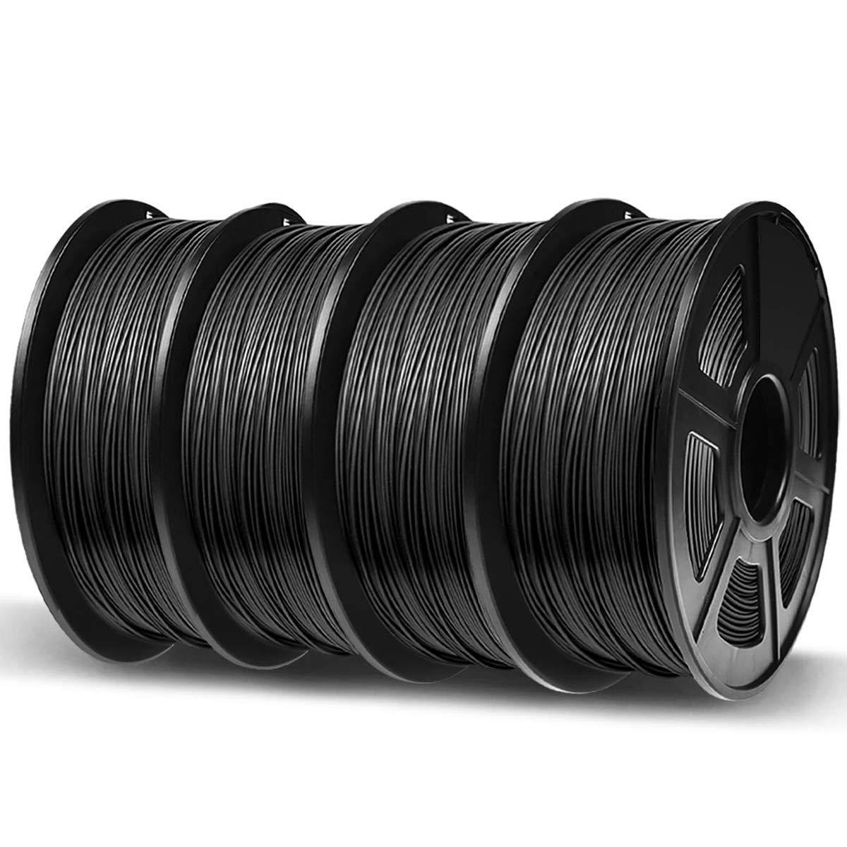 Dimensional Accuracy +//- 0.02 mm 1KG PLA Filament Black Bonus with 5M PCL Nozzle Cleaning Filament 3D Hero PLA Filament 1.75mm,PLA 3D Printer Filament 2.2 LBS ,1.75mm Filament