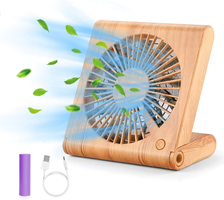 GeeRic Ventilador de Mesa, Mini Ventilador portátil USB Ventilador Plegable silencioso para Home Office y Cuaderno de Viaje con 3 velocidades