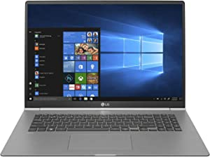 "LG gram Thin and Light Laptop - 17""(2560 x 1600) IPS Display, Intel 8th Gen Core i7, 16GB RAM, 512GB SSD, up to 19.5 Hour Battery, Thunderbolt 3 - 17Z990-R.AAS8U1 (2019), Dark Silver"