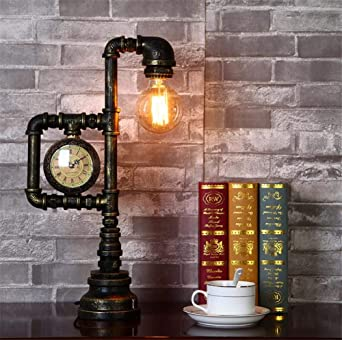 Lampe De Bureau Detude Loft Industriel Style Retro Chambre Chevet E27 Prise Lecture