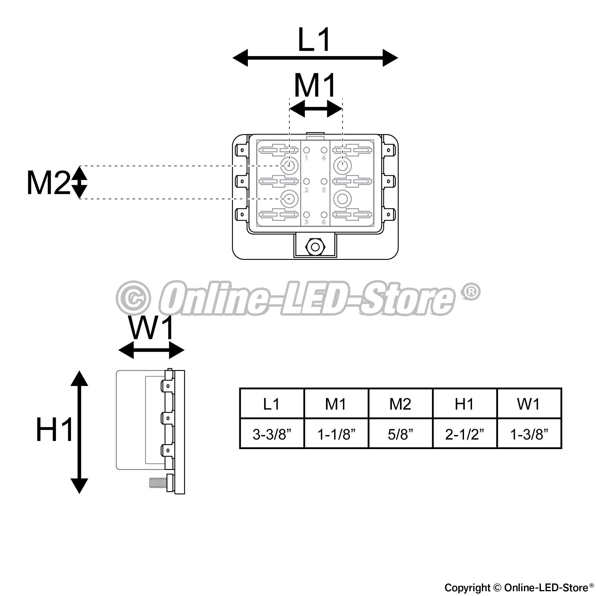 6 Way Blade Fuse Box Led Indicator For Blown Protection Has Cover 100 Amp Block Automotive Pszacceps051h Boxes