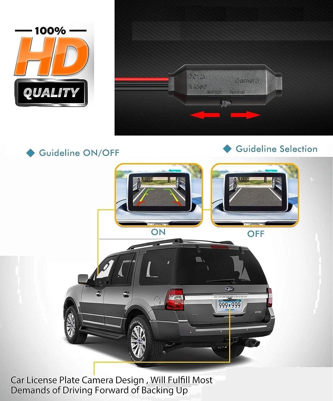 HD Rear Reversing Backup Camera Rearview License Plate Replacement Camera Night Vision Waterproof for FORD Ranger MONDEO//FIESTA Fiesta Seda Ford Fiesta ST//FOCUS HATCHBACK//S-Max//KUGA