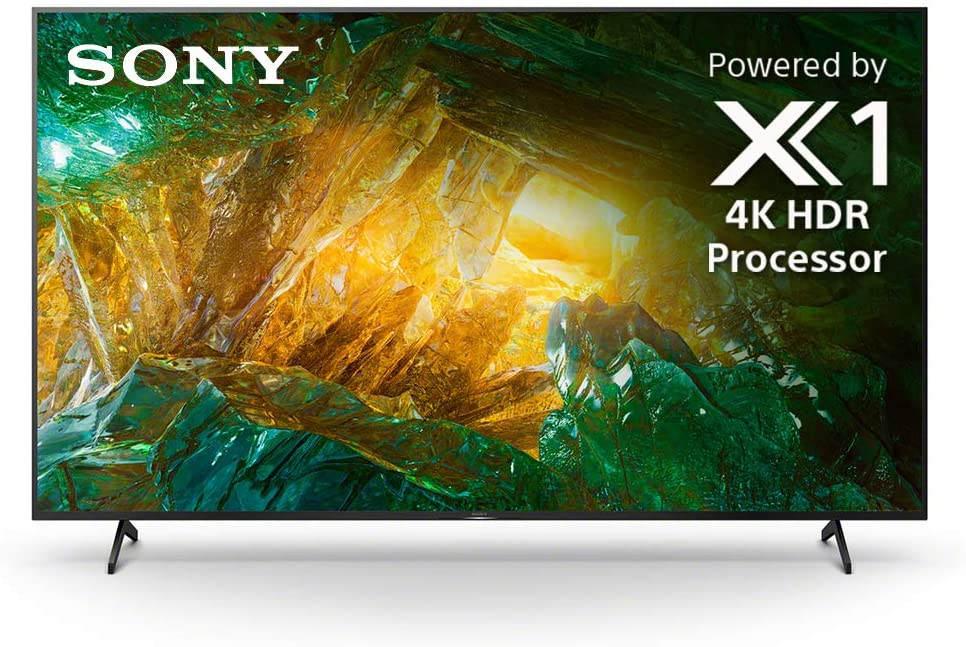 Sony X800H 75 Inch TV: 4K Ultra HD Smart LED TV with HDR and Alexa Compatibility - 2020 Model, XBR75X800H