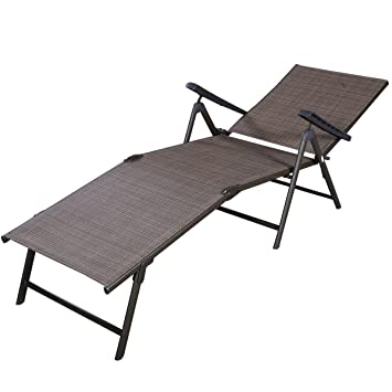 Lovely Giantex Adjustable Pool Chaise Lounge Chair Recliner Outdoor Patio  Furniture Textilene