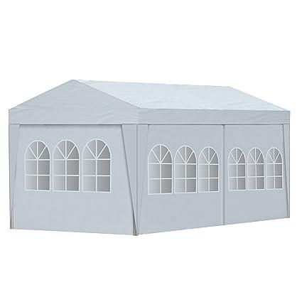 ALEKO APT20X10GAZEBO Outdoor Event Carport Garage Canopy Tent Shelter  Storage Wedding Party 20 X 10 X