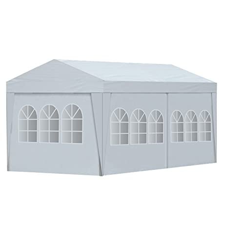 ALEKO 20 x 10 Feet Gazebo Canopy for Outdoor Picnic Party Tent White Gazebo  sc 1 st  Amazon.com : 20x10 canopy tent - memphite.com