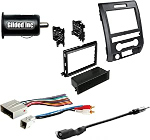 Car Radio Stereo Double Din Dash Kit Harness Antenna for 2009-2012 Ford F-150