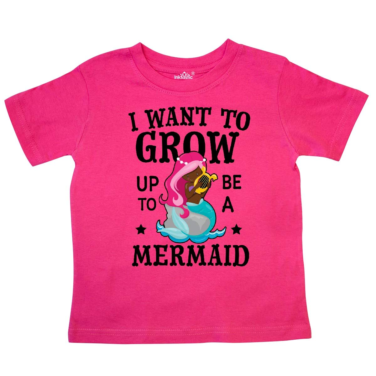 inktastic I Want to Grow Up to Be a Mermaid Toddler T-Shirt