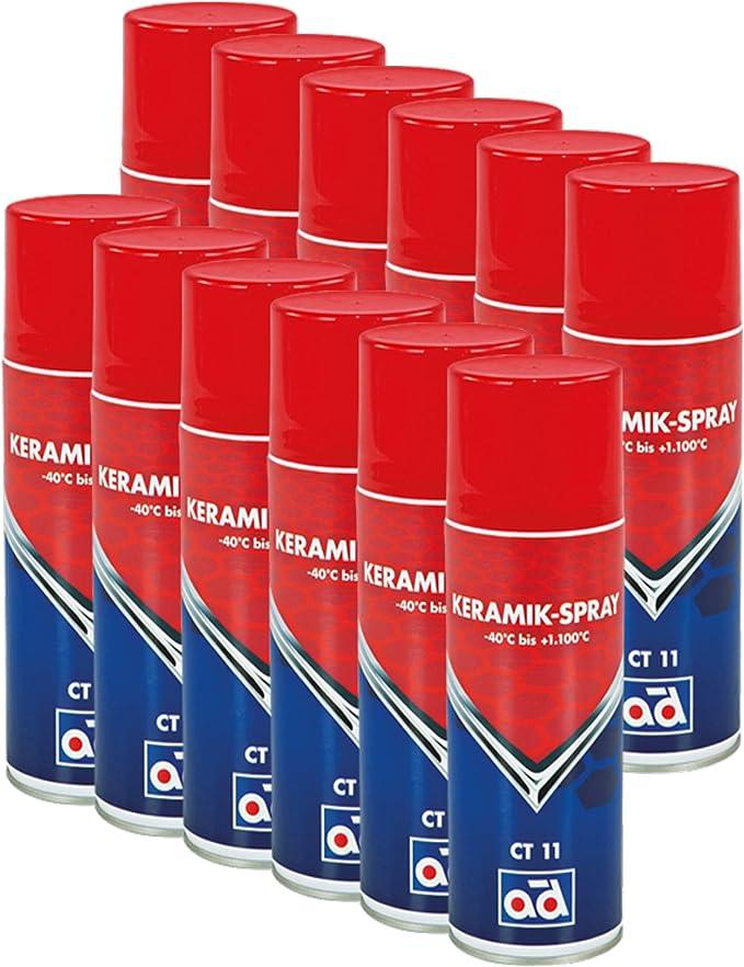 Ad Chemie 12x Keramikspray Ct 11 400ml Spraydose Spray Keramik Bremsen Fett Auto Bremse Anti Öl Für Kupferpaste Auspuff Montagepaste Quietsch Keramikpaste 411318300 Auto