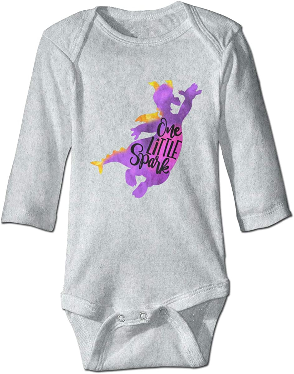 Marsherun Baby Boys Girls One Little Spark Long-Sleeve Bodysuit Clothes Playsuits