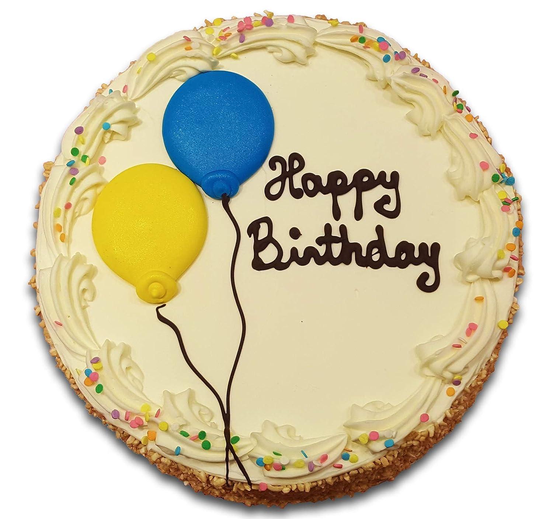 Wondrous Happy Birthday Cake Vanilla Amazon Com Grocery Gourmet Food Funny Birthday Cards Online Overcheapnameinfo