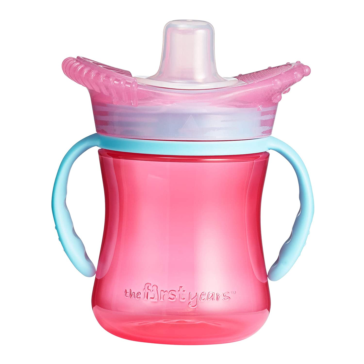 The First Years Teethe Around Sensory Trainer Sippy Cup, Pink