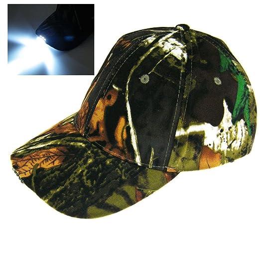 2ad11b58283ad Con Battry! Luz 5 LED camuflajeCamo caza selva Pesca gorra Tapa de  senderismo vintage  Amazon.es  Deportes y aire libre