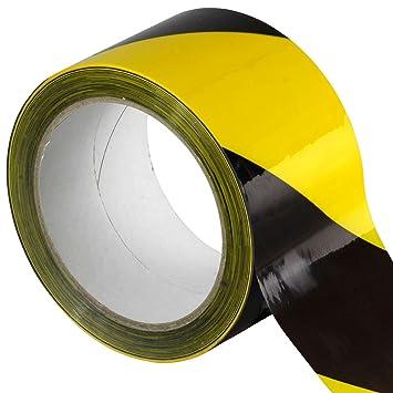 Klebeband Warnband für Gefahrenbereiche 66m x 6cm schwarz gelb rot weiß Absperr