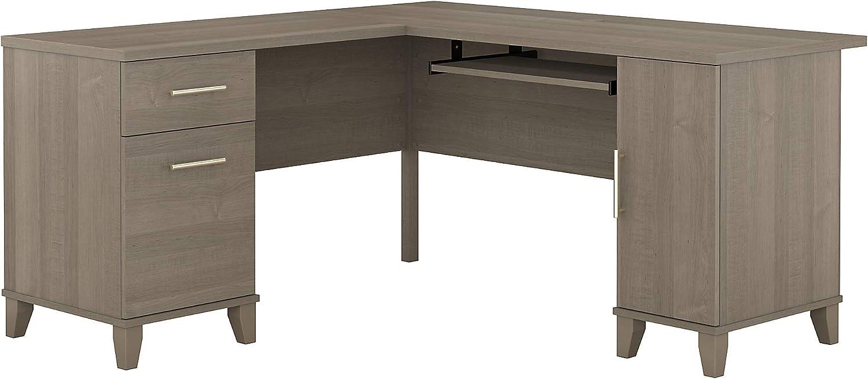 Bush Furniture Somerset 60W L Shaped Desk in Ash Gray
