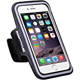 "Monstercube Water Resistant Sports Armband for iPhone 6 /iPhone 6s (only 4.7"") with Key Holder and Bundled Screen Protector"