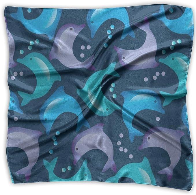 Voxpkrs Pañuelo cuadrado Delfines lindos Pañuelo de dibujos ...