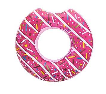 Bestway® Donut Anillo flotador (Diseño de Donut, 107 cm, Muchos Colores, rosa: Amazon.es: Deportes y aire libre