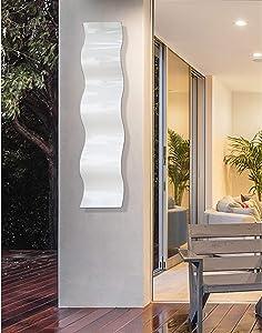 Statements20003D Abstract Metal Wall Art Accent Sculpture Modern White Decor by Jon Allen, 46