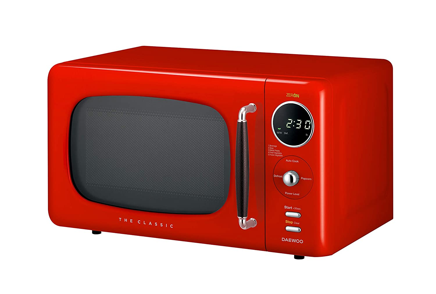 Daewoo KOR07R3ZER Microwave, 0.7 Cu.Ft, Red