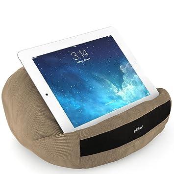 padRelax casual Camel cojín de iPad para 10 pulgadas, Made in Germany, para cama, playa y cada iPad, Samsung Galaxy Tab, eReader, ...