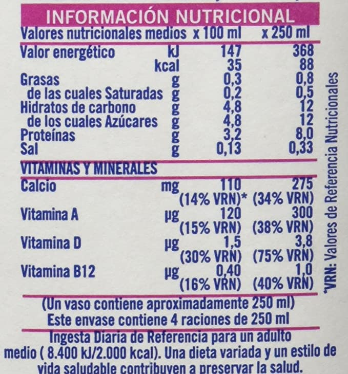 Puleva Leche Desnatada Vitaminas A+D - Pack 6 x 1000 ml - Total: 6000 ml: Amazon.es: Amazon Pantry