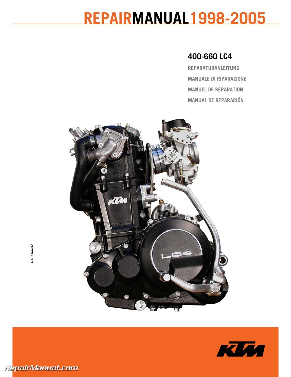 3206024-E 1998-2005 KTM 400-660 LC4 Paper Engine Repair Manual:  Manufacturer: Amazon.com: Books