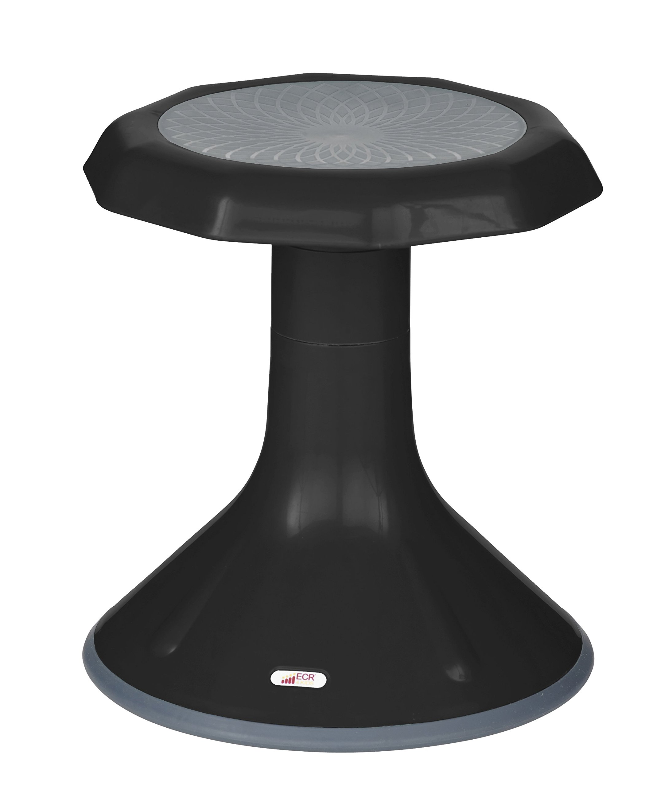 ECR4Kids ACE Active Core Engagement Stool for Kids, 15-Inch H, Black