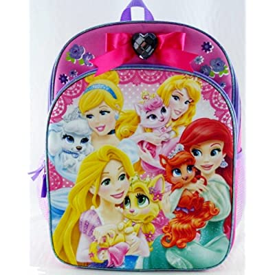 Disney Palace Pets and Princesses Backpack with Purple Heart