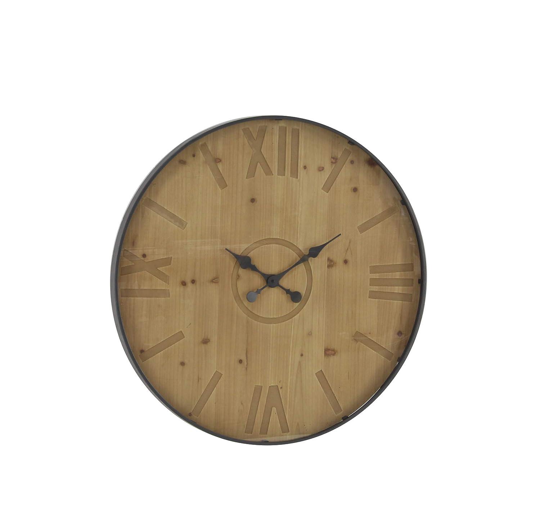 Deco 79 Wall Clocks Medium Brown Black